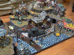 Halloween Village Display / Dept. 56 Halloween Display / - Ann's display by 56th and Main, via Flickr