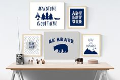 Boys Gallery Wall, Adventure Prints, Set of 5, Boys Printables, Prints For Boys Room, Adventure Prints Boys Bedroom, Boys Nursery Wall Art