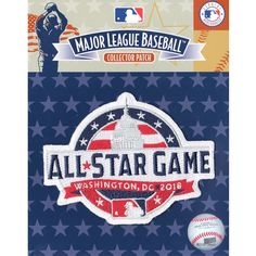 c8ee3214f Official 2018 All Star Game MLB Washington Nationals Sleeve Jersey Logo  Patch at Amazon s Sports Collectibles Store