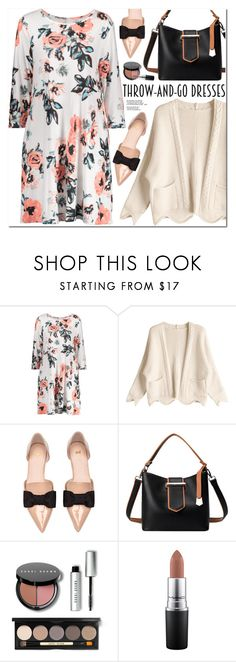 """Throw-and-Go Dresses"" by oshint ❤ liked on Polyvore featuring H&M, Bobbi Brown Cosmetics and MAC Cosmetics"