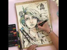 Ostrov a Oceán / Island and Ocean -Mystery of love Mystery, Ocean, Island, Love, Drawing, Female, Youtube, Art, Amor