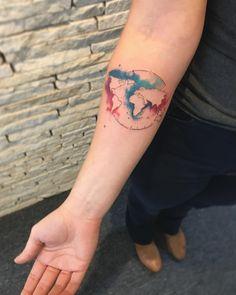 Earth tattoo by LCjunior Tattoo