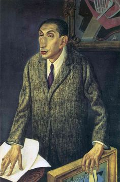 'The Art Dealer Alfred Flechtheim' (1926) by German painter Otto Dix (1891-1969). Mixed media on wood, 47.25 x 31.5 in. source: art history on about. collection: Staatliche Museen zu Berlin. via WikiPaintings