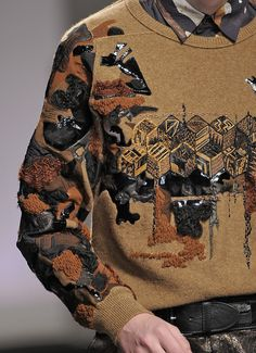 Modern embroidered men's sweater