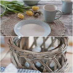 Herzenswärme Wicker Baskets, Happy Easter, Table Decorations, Furniture, Home Decor, Heart, Happy Easter Day, Decoration Home, Room Decor