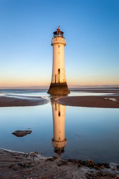 Perch Rock lighthouse at dawn
