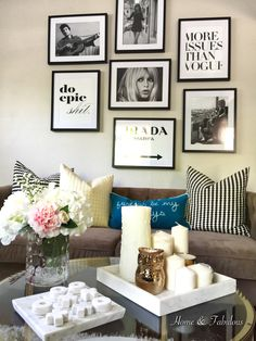 A few simple touches and a pop of color from @homegoods add sophistication to a small space. (Sponsored pin)