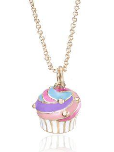 Pink Swirled Cupcake Necklace by Twin Stars Jewelry on Gilt.  http://www.gilt.com/invite/163658143aqjenldjkgw
