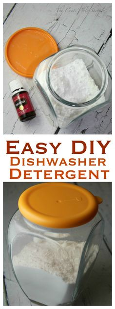 Ever wanted to make your OWN Dishwashing Detergent? It's EASY. I say GO FOR IT!   This recipe is simple, effective and does a GREAT job!