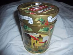 Collectible Musical Lambertz Iced Gingerbread Christmas Cookie Tin 5.5""