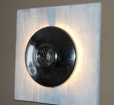 Vintage Industrial Man cave VW Hubcap Lamp from by Junkin2Jewels