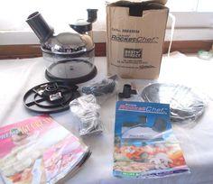 New Culinare 2 Speed Rocket Chef Food Processor + 2 Recipe Books #Culinare