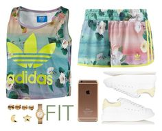 """FIT"" by hosana-tsarnaev ❤ liked on Polyvore featuring adidas, Alexander McQueen, Maison Margiela, Tory Burch, Erica Weiner, women's clothing, women, female, woman and misses"