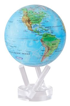 Globes Blue With Relief Map Mova Globe BUY IT NOW - Globe elevation