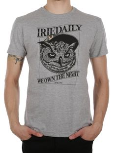 Own the night Tee [grey-mel.] // IRIEDAILY Spring Summer 2015 Collection! - OUT NOW! // TEES & TANKS - MEN: http://www.iriedaily.de/men-id/men-tees/ // LOOKBOOK: http://www.iriedaily.de/blog/lookbook/iriedaily-spring-summer-2015/ #iriedaily