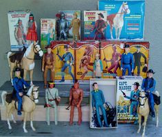 Johnny West and Best of the West Action Figures by Marx, 1960's