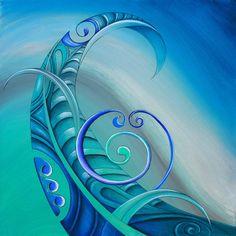 Legend Art Print featuring the painting Legend By Reina Cottier by Reina Cottier Maori Symbols, Maori Patterns, Zentangle Patterns, Polynesian Art, Maori Designs, New Zealand Art, Nz Art, Maori Art, Kiwiana