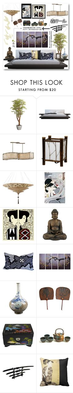 """""""JAPAN"""" by purplerose27 ❤ liked on Polyvore featuring interior, interiors, interior design, home, home decor, interior decorating, Pier 1 Imports, Modloft, Corbett Lighting and Potting Shed Creations"""