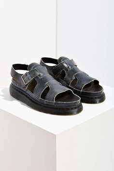 Dr. Martens Asha Leather Sandal - Urban Outfitters Shoe Station, Leather Sandals, Urban Outfitters, Fashion, Moda, Fashion Styles, Fashion Illustrations