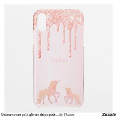 Shop Unicorn rose gold glitter drips pink girly uncommon iPhone case created by Thunes. Rose Gold Pink, Rose Gold Glitter, Rose Gold Backgrounds, Unicorn Fantasy, Drip Painting, Iphone Case Covers, Apple Iphone, Create Your Own, Christmas Gifts