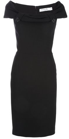 DIOR Button Detail Dress