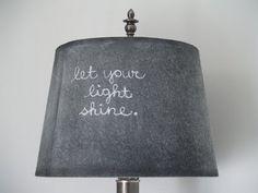 Chalkboard lampshade