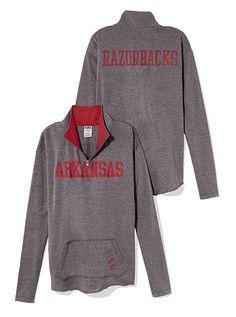 University of Arkansas Raw Half-zip Pullover
