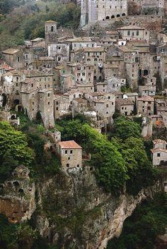 Sorano, Italy (Tuscany) Grandma's country....