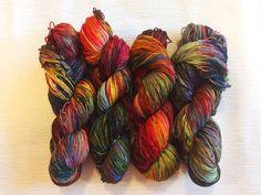 Hand Dyed Yarn - Sock Yarn - Fingering Yarn - DK Yarn - Geek Yarn - Speckled Yarn - The North Remembers by GeektasticFibers on Etsy