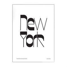 New York poster - 50x70 cm - Olle Eksell