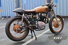 Copper (Steampunk) Honda CB350 Cafe | Chappell Customs