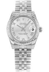 Rolex Datejust 178344 MRJ Steel & 18K White Gold Automatic Ladies Watch Female Watches, Buy Rolex, Rolex Oyster Perpetual, Rolex Datejust, Oysters, Fancy Dress, Rolex Watches, Bracelet Watch, White Gold