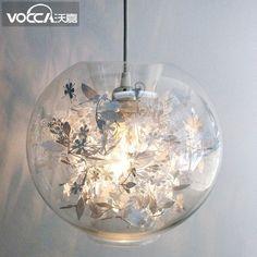 83.60$  Buy now - http://alid7d.worldwells.pw/go.php?t=32683346563 - Art  Phantom Pendant Light Ceiling Lamp Glass Droplight Cafe Bar Store Bedside 83.60$