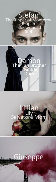 TVD characters_Stefan/Damon/Lillian/Giuseppe_ - The Salvatore Family - Work: D.A.