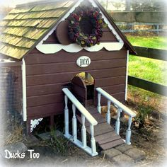 Gingerbread Duck House Plans PDF - Room In Coop For Up To 6 Ducks Or 8 Chickens…