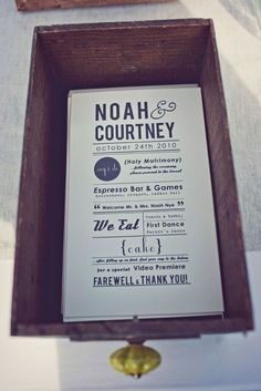 Courtney and Noah's Western Love Story.  Invitations by Courtney Nye Design