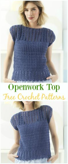 Crochet Openwork Top Free Pattern -Crochet Summer Top Free Patterns