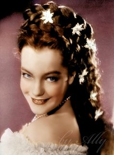 Romy Schneider. Originally black and white image coloured by me.
