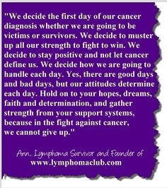 Always muster all your strength to fight to win!  Hold on to your hopes, dreams, faith & determination!  Never give up!