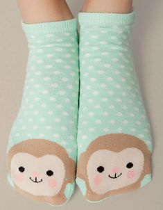 Ankle socks with monkey detail - Socks - Accessories - United Kingdom