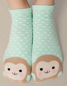 Ankle socks with monkey detail - Socks - Accessories - United Kingdom