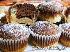 Pudinggal töltött fekete-fehér muffin 3