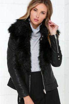 Blank NYC Control Freak Black Vegan Leather Jacket at Lulus.com!