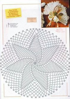 Kira scheme crochet: Scheme crochet no. Free Crochet Doily Patterns, Crochet Doily Diagram, Crochet Circles, Crochet Motifs, Crochet Chart, Crochet Squares, Filet Crochet, Crochet Dollies, Crochet Diy