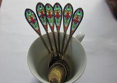 Antique Sterling Silver cuillères Kjaerland Plique un ensemble de cuillères de Jour de Six vers 1900    Il sagit dun merveilleux ensemble de