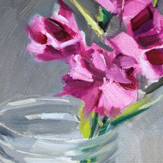 Pinks in a Glass Jar by gretchenhancock on Etsy