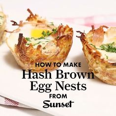 """500 Likes, 39 Comments - Sunset (@sunsetmag) on Instagram: """"These hash brown egg nests are perfect for brunch. Add a mimosa or two, and you're ready to go.…"""""""