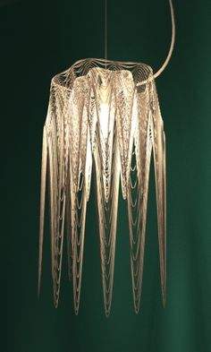 3d print lamp shade by studioluminaire.Join the 3D Printing Conversation: http://www.fuelyourproductdesign.com/