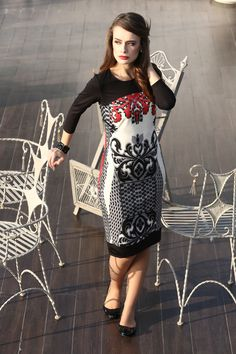 Elastic jersey dress with print#yokko#style#fashion#look amazing