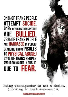 These numbers quite a bit off of recent reports....Try 47% of Transpersons attempt suicide. It is not a club and no one should be trying to gain entrance.